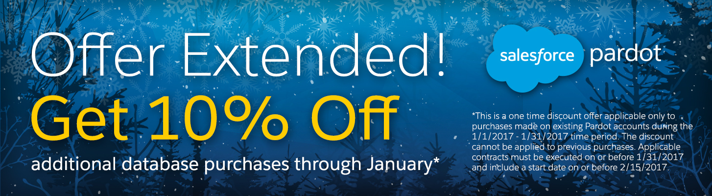 The Pardot Holiday Promotion Has Been Extended!