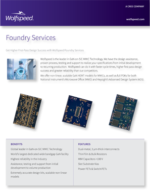 Wolfspeed Foundry Services brochure