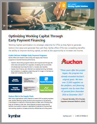 Working Capital Solution Fact Sheet