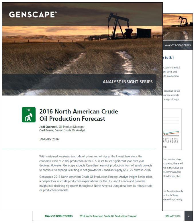 Crude Production Forecast 2016