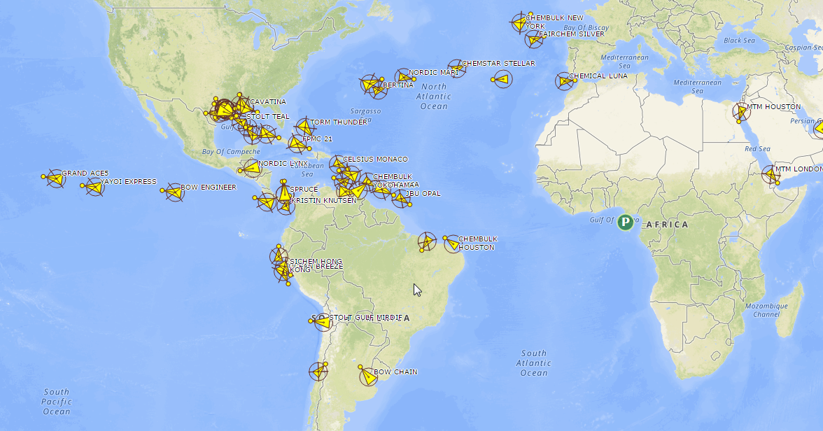 Genscape Vesseltracker AIS tracking data for Genscape's Global Biodiesel Imports Monitor and Global Ethanol Monitor