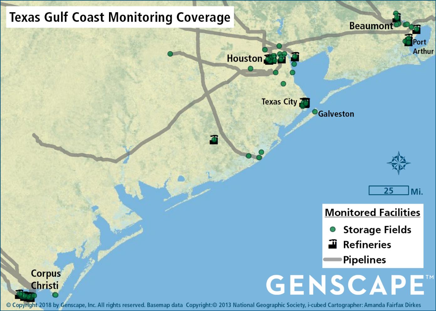 Texas Gulf Coast Storage Map