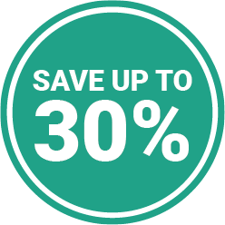 Save up to 30 percent