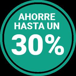 Ahorre hasta un 30%