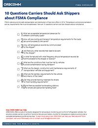 FSMA compliance checklist
