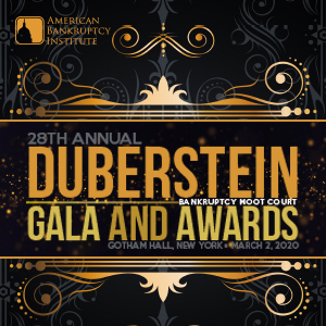 28th Annual Duberstein Bankruptcy Moot Court Gala and Awards