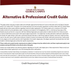 CSU-Global Alternative Credit Guide
