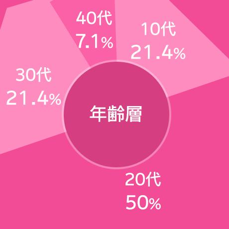 年齢層の円グラフ