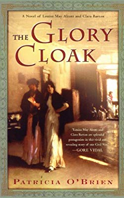 book cover for The Glory Cloak showing two ladies in mid-1800s dress