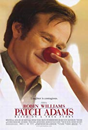CD or DVD cover of the film Patch Adams