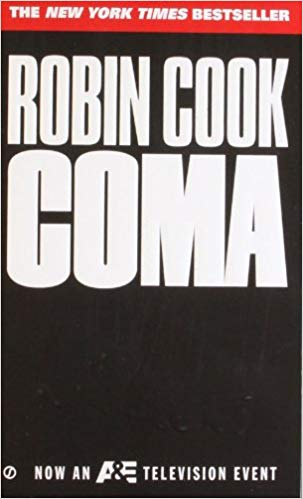 book cover for Robin Cook's book Coma