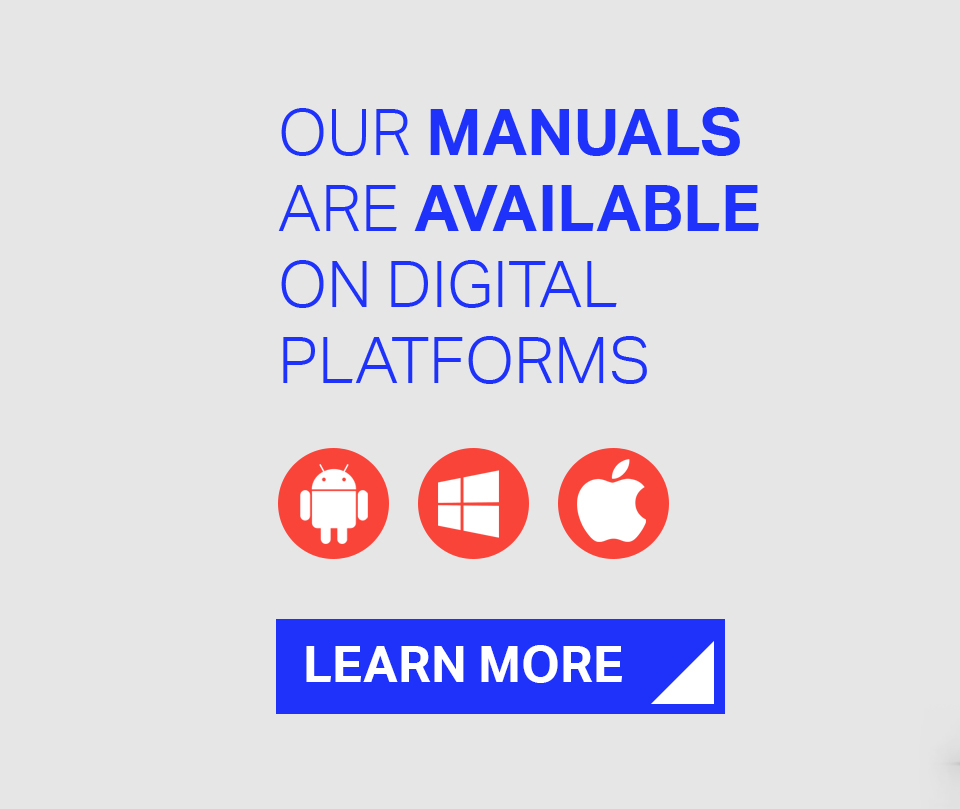 Our manuals are available on digital platforms