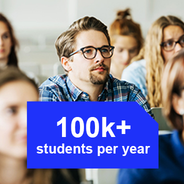 100k+ students per year