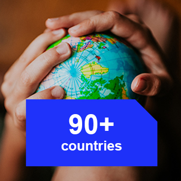 90+ countries