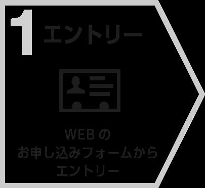 1:エントリー WEBのお申し込みフォームからエントリー