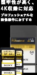 堅牢性が高く、4K収録に対応 プロフェッショナルな映像制作におすすめ