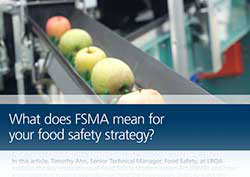 LRQA Article - FSMA and Food Safety Strategies