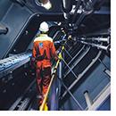 Engineer in enclosed space
