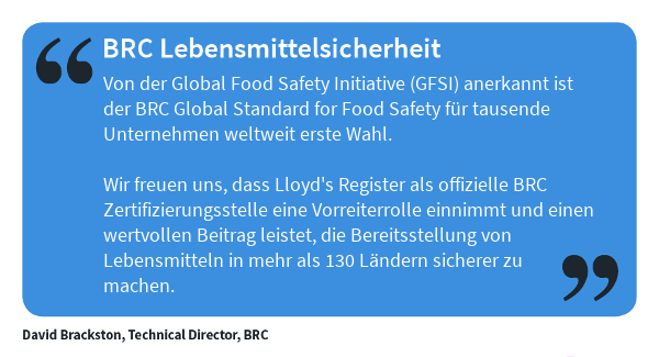 BRC Global Standard for Food Safety - Quote