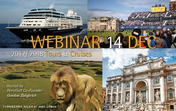 PerryGolf Tours & Cruises Webinar with Co-Founding Director, Gordon Dalgleish.