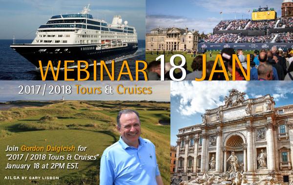 PerryGolf Tours & Cruises Webinar with Co-Founding Director, Gordon Dalgleish.