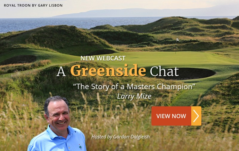 """NEW WEBCAST: """"The Story of a Masters Champion"""" ~ Larry Mize"""