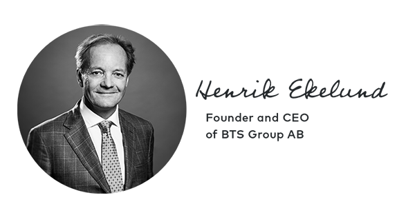 Henrik Ekelund, Founder & CEO of BTS
