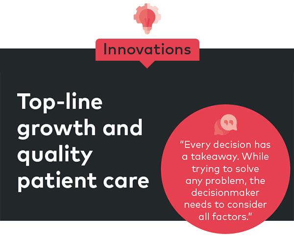 Top-line growth and quality patient care