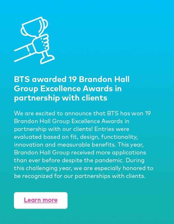 BTS honored as Silver Stevie Award Winner in 2020 Stevie Awards for Great Employers
