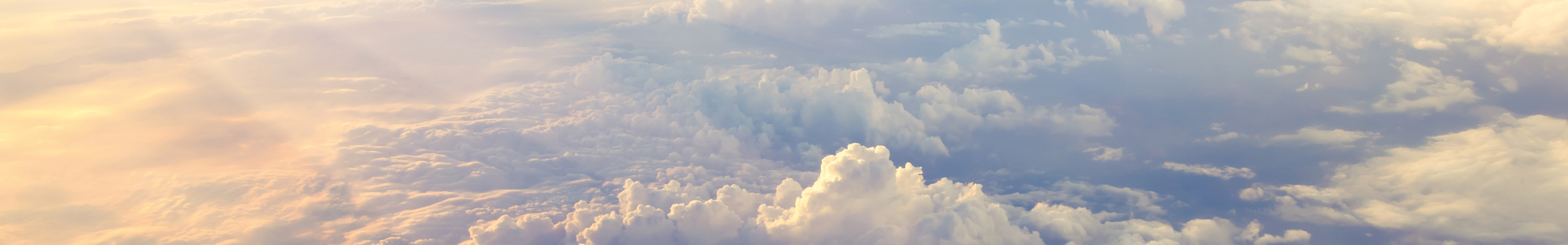 clouds in the sky above