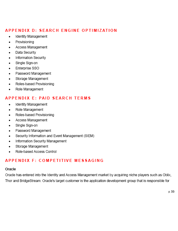 Competitor Web Marketing Strategy