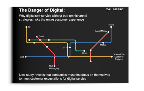 Cover of The Danger of Digital Report: Why Digital Self-Service without True Omnichannel Strategies Risks the Entire Customer Experience