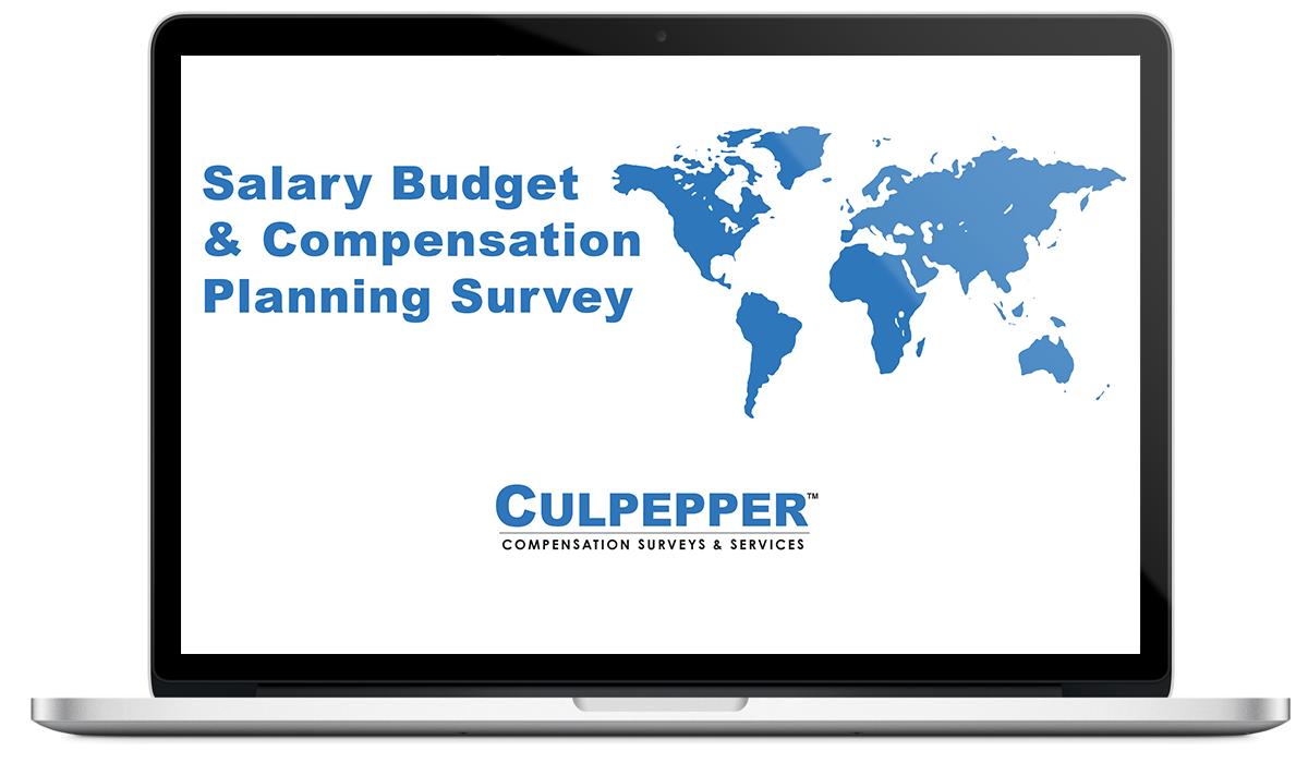 Culpepper Salary Budget & Compensation Planning Survey