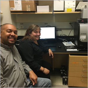 Dr. Johnson with Miranda Neubert