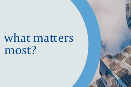 Video: What matters most?