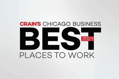 Image: Crain's Chicago Business Best Places to Work 2021
