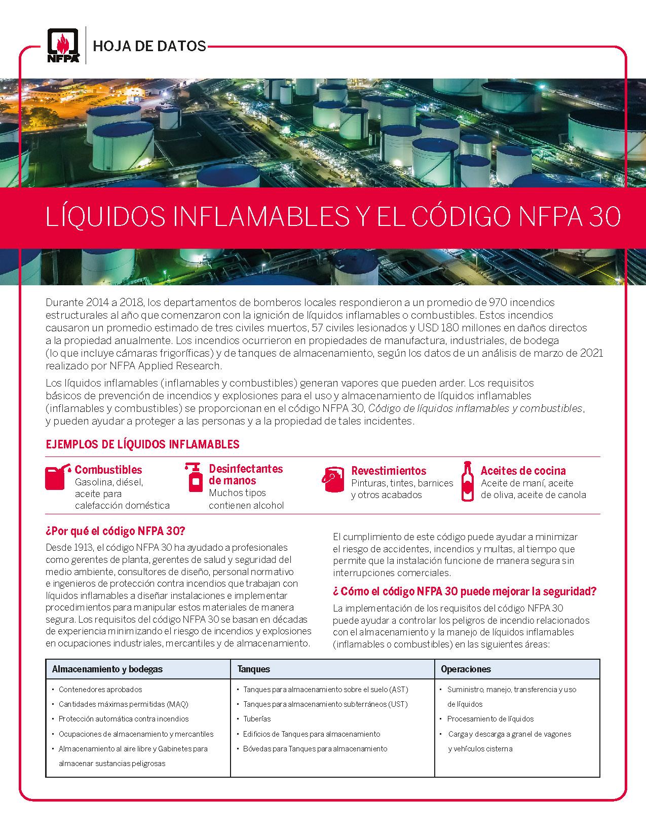NFPA 30 Fact Sheet