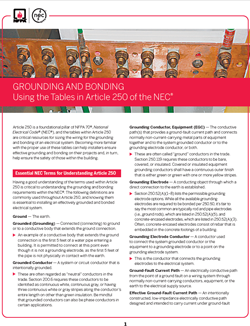 Bonding and Grounding Resource