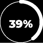 39% full circle graphic
