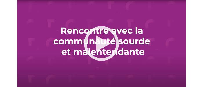 Lire la vidéo : Rencontre avec la communauté sourde et malentendante de l'Ontario français. - Avertissement ce site contient une vidéo YouTube qui peut présenter certains obstacles à l'accessibilité.