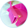 Vikan UST bench brush and dustpan promote food allergen control