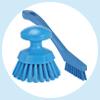 Vikan detail and round scrub brushes