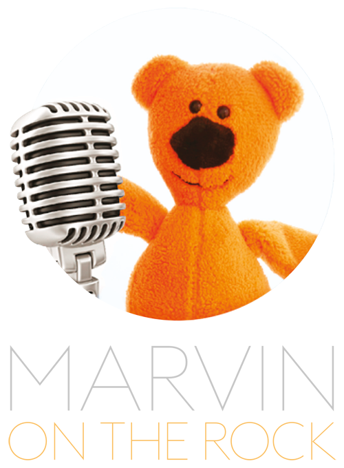 Marvin on the rock