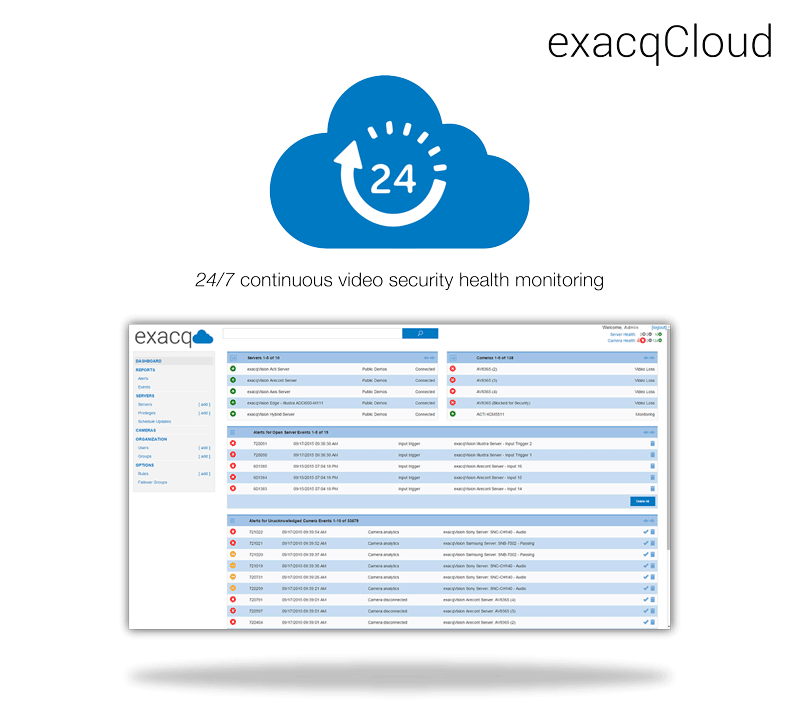 exacqCloud Monitoring
