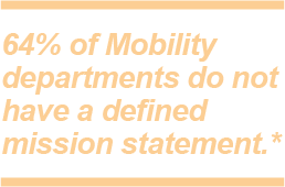 Mobility programs do not have a defined mission statement
