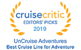 UnCruise is the winner of Cruise Critic awards