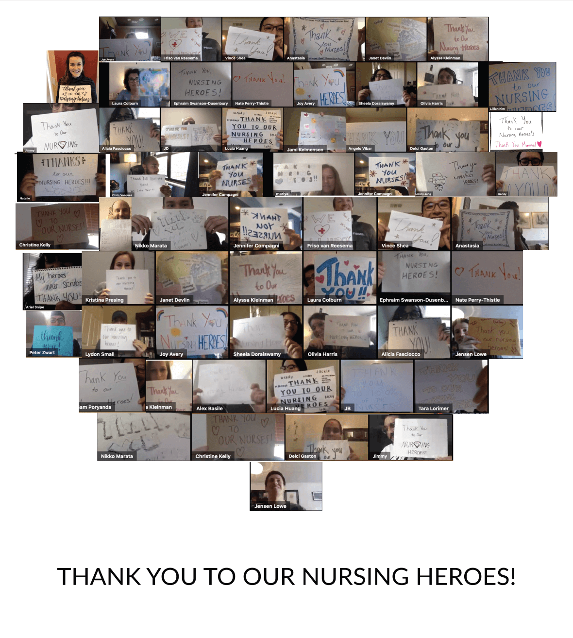 CipherHealth Team: Thank You Salute to Nurses