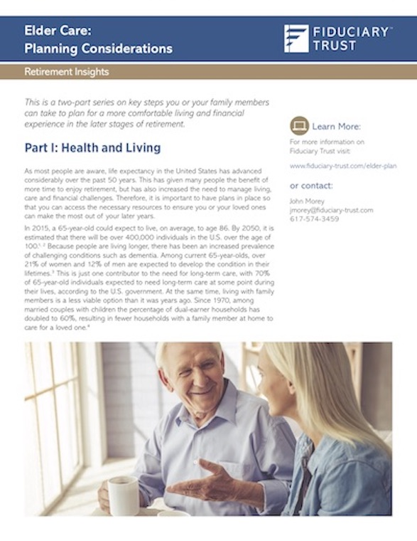 Download Fiduciary Trust's Elder Care Paper