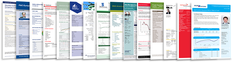 fund fact sheets