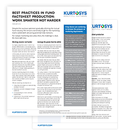Best Practices in Fund Factsheet Production